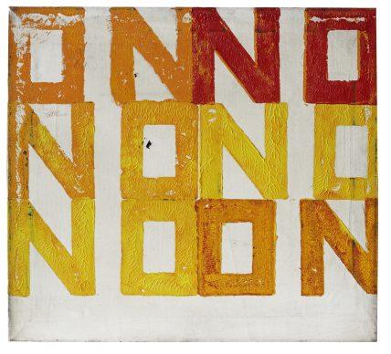 Boris Lurie NO-ON, 1962. Oil paint on canvas, 65 x 72.5 x 4 cm. Boris Lurie Art Foundation. Image: Boris Lurie Art Foundation