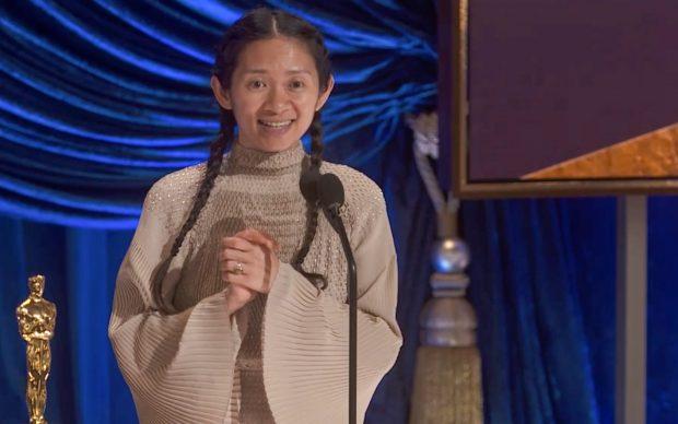 93rd Oscars® Screen Captures. Chloé Zhao. Credit ABC/AMPAS