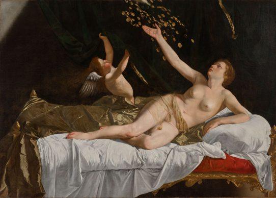 Danaë, c. 1623. Orazio Gentileschi (Italian, 1563–1639). Oil on canvas; 162 x 228.5 cm. The Cleveland Museum of Art, Leonard C. Hanna Jr. Fund, 1971.101. After conservation