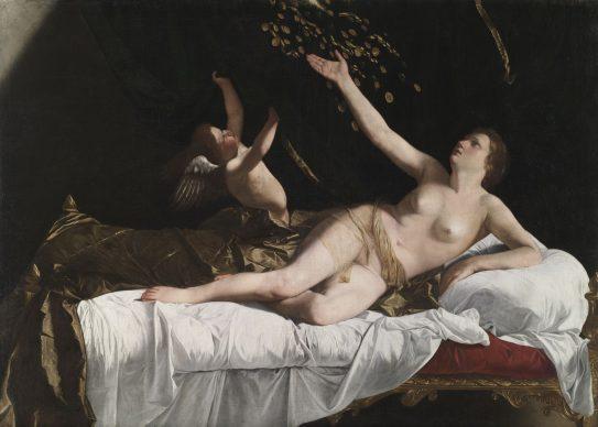 Danaë, c. 1623. Orazio Gentileschi (Italian, 1563–1639). Oil on canvas; 162 x 228.5 cm. The Cleveland Museum of Art, Leonard C. Hanna Jr. Fund, 1971.101. Before conservation