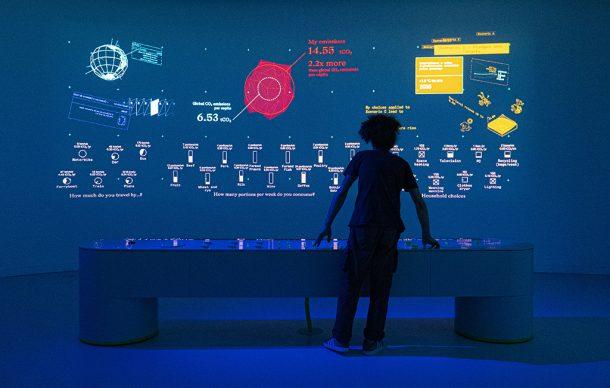 Earth Bits – Sensing the Planetary, installation view: The CO2 Mixer: Identifying Human Impact. by Dotdotdot. maat – Museum of Art, Architecture and Technology (Lisbon), 2021 © Courtesy of Dotdotdot