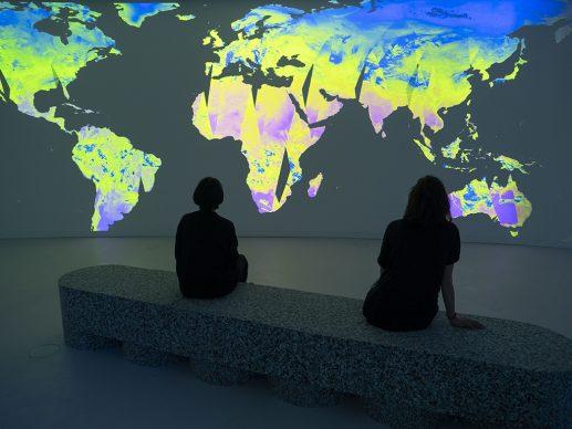 Earth Bits – Sensing the Planetary, installation view: Planet Calls: Imaging Climate Change. by Dotdotdot. maat – Museum of Art, Architecture and Technology (Lisbon), 2021 © Courtesy of Dotdotdot