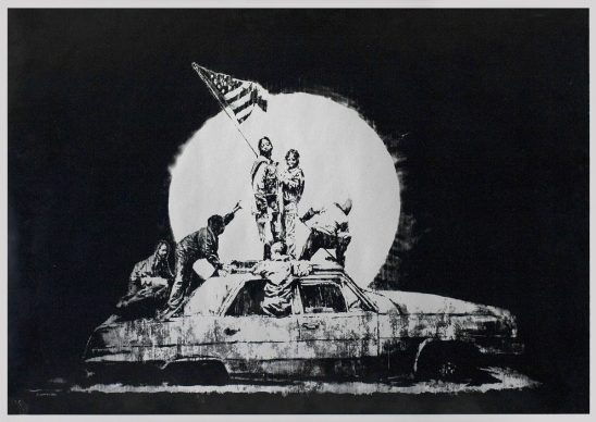 Flag (Silver), Screenprint, 2006, Private Collection