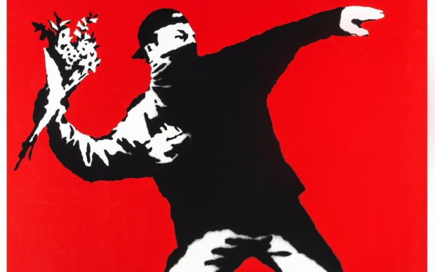 Flower Thrower, Screenprint, 2003, Private Collection