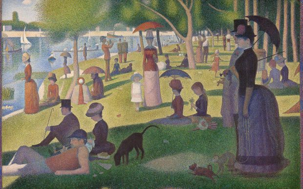 Georges Seurat, Pomeriggio alla Grande Jatte. 1884-1886 Chicago, Art Institute. Courtesy Art Institute, Chicago