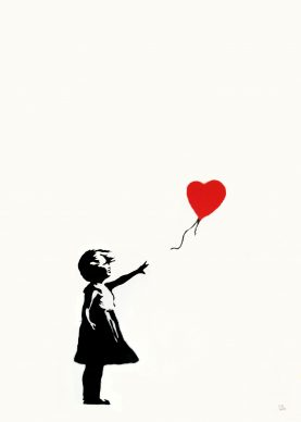 Girl With Balloon, Screenprint, 2004, Private Collection