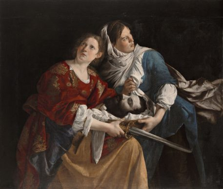 Judith and Her Maidservant with the Head of Holofernes, c. 1610–12. Orazio Gentileschi (Italian, 1563–1639). Oil on canvas; 136.5 x 159 cm. Wadsworth Atheneum Museum of Art, Hartford, CT, The Ella Gallup Sumner and Mary Catlin Sumner Collection Fund, 1949.52
