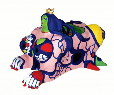 La Sfinge, 1983. Collezione Privata. Poliestere dipinto 29 x 25 x 45 cm