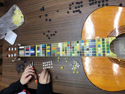 Lego Microtonal Guitar. Credit Tolgahan Çoglu/Georgia Tech School of Music