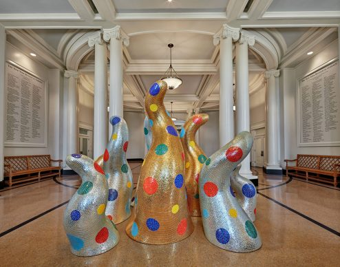 Life, 2015, The New York Botanical Garden, Fiberglass-reinforced plastic, tiles, and resin, Installation dimensions variable, Collection of the artist. Courtesy of Ota Fine Arts and David Zwirner. Photo by Robert Benson Photography