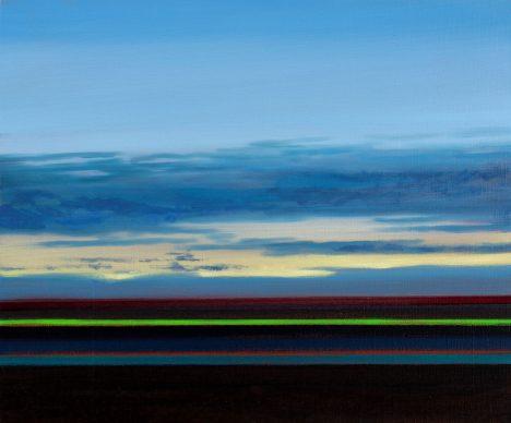 Olivier Masmonteil, Paysage, 2019. Huile sur toile, 38 x 46 cm