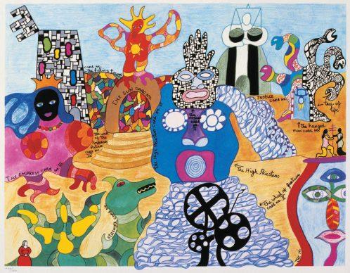 Tarot Garden, 1991 @Il Giardino dei Tarocchi. Litografia 60.3 x 80 cm