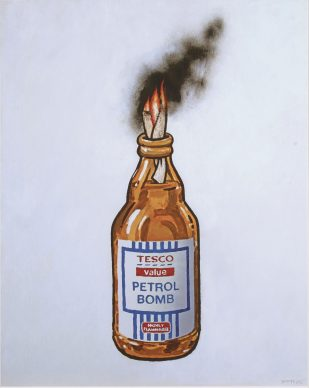 Tesco Value Petrol Bomb, Lithography, 2011, Private Collection