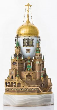 The Moscow Kremlin Egg, Fabergé. Gold, silver, onyx, enamel, 1906 © The Moscow Kremlin Museums