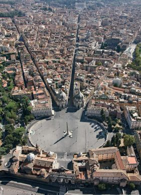 Una veduta di Piazza del Popolo, tratta dal libroRomadall'alto(Jaca Book, 2021)
