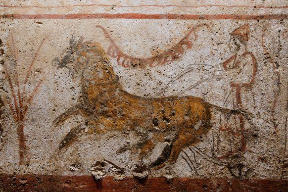 Opere in mostra al Museo Archeologico Nazionale di Napoli in occasione della mostra Gladiatori presso il Museo Archeologico Nazionale di Napoli. Photo Mario Laporta/KONTROLAB