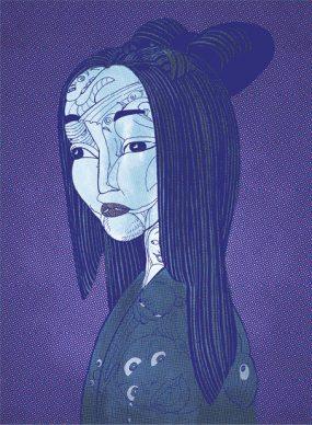 Un'immagine dal libro Storie di fantasmi del Giappone. Courtesy l'editore