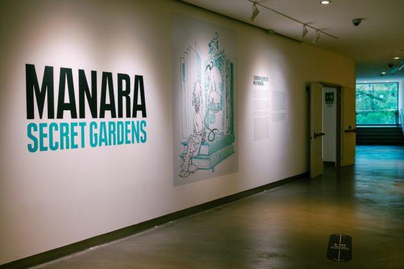 PAFF! Manara Secret Gardens, sala espositiva. Photo Francesco Del Zott