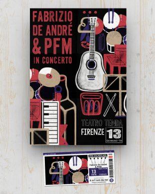 De André + PFM - Teatro Tenda - Firenze - 13 gennaio 1979 - A m'l rum da me