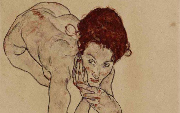 Egon Schiele, Kauernder Weiblicher Akt (Crouching Female Nude. Courtesy Sotheby's