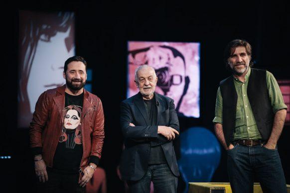 Federico Zampaglione, Gianni Canova e Giovanni Calcagno a Luce Social Club