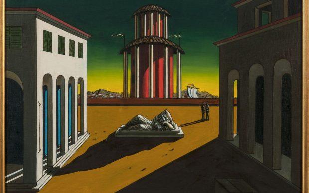 Giorgio de Chirico, Piazza d'Italia, 1949. Collezione privata. Courtesy Galleria Berman, Torino