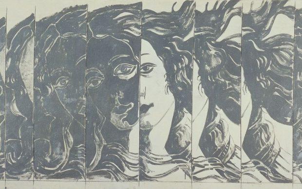 Giosetta Fioroni, Particolare della nascita di Venere, 1965. Collezione Intesa Sanpaolo, Archivio Patrimonio Artistico Intesa Sanpaolo. Foto Paolo Vandrasch, Milano