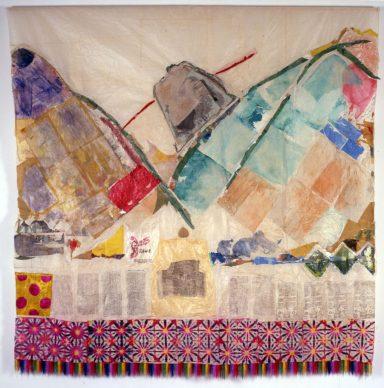 Isabella Ducrot, Li-Jang, 1997, Tecnica mista (tessuto e carta), Roma - Sovrintendenza Capitolina ai Beni Culturali, depositi MACRO