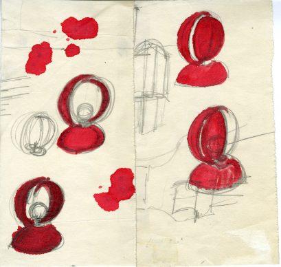 Vico Magistretti, Eclisse, Artemide, 1966-1967 (Schizzo) © Archivio Studio Magistretti – Fondazione Vico Magistretti