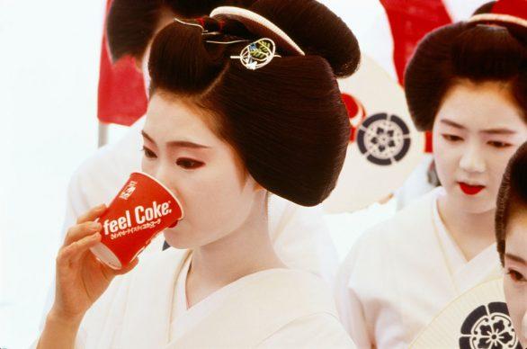 Fosco Maraini, Kyoto 1985, La geisha pienamente aggiornata
