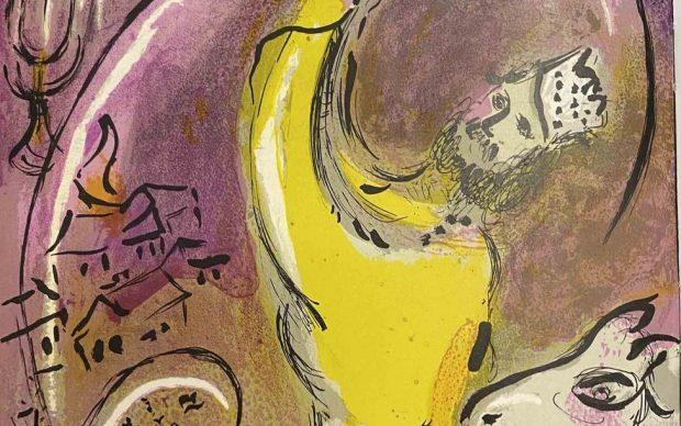 Marc Chagall,M 131 Salomon, Chagall Verve, 1956. Litografia, 36,4x26,3 cm © Chagall®, by SIAE 2021