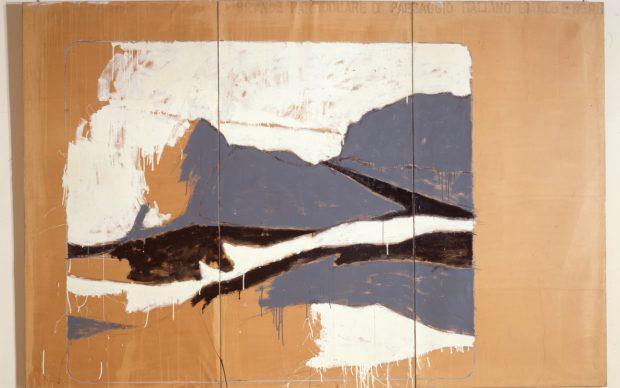 Mario Schifano, Grande particolare di paesaggio italiano in bianco e nero, 1963, Roma, Galleria Nazionale d'Arte Moderna e Contemporanea © Mario Schifano, by SIAE 2021
