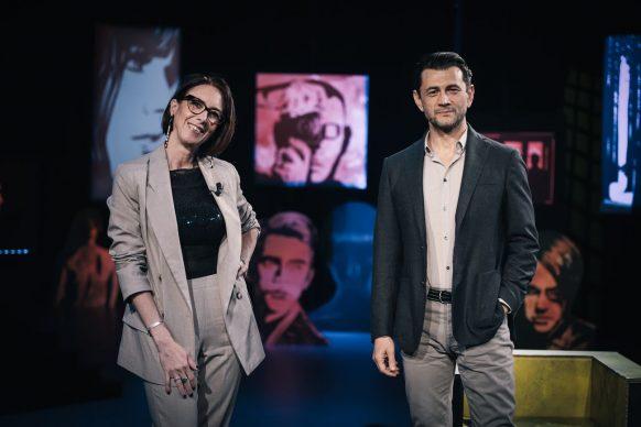 Martina Riva e Vinicio Marchioni, ospite di Luce Social Club