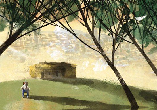 """Una tavola tratta dal libro """"Osso. Anche i cani sognano"""" di Michele Serra. Courtesy Alessandro Sanna"""