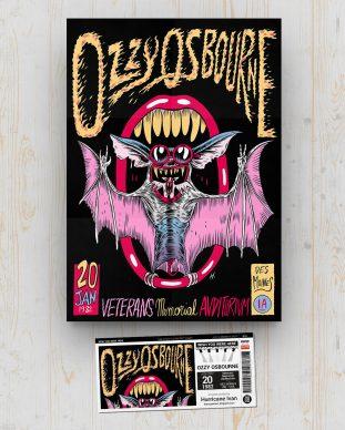 Ozzy Osbourne - Veterans memorial Auditorium - Des Moines (IA) - USA - January 20 1982 - Hurricane Ivan