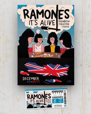 Ramones - Rainbow Theatre - London - UK - December 31 1977 - Vitt Moretta