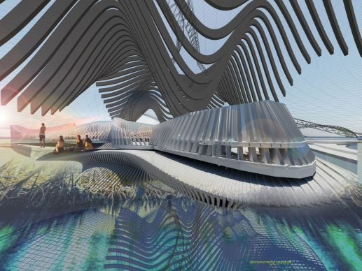 Recycled Ocean Plastic Resort. Photo credit Margot Krasojević