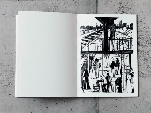 """Una tavola tratta da """"Please! Don't use Birkenstock® if you have an appointment at The New Yorker. Ok?"""". Courtesy Lucio Schiavon"""