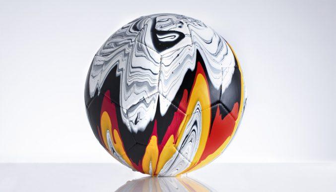 Craig Black x The Fusion Series – Footballs. Acrylic fusion, Germany. Photo Garth Ivan