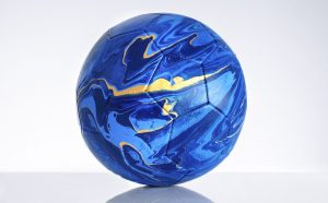 Craig Black x The Fusion Series – Footballs. Acrylic fusion, Italy. Photo Garth Ivan