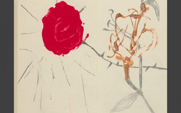 Elisa Montessori, La voce di Beatrice, 2021, tecnica mista su carta, 20 x 170 cm, 15 x 200 cm e 15 x 180 cm (particolare)