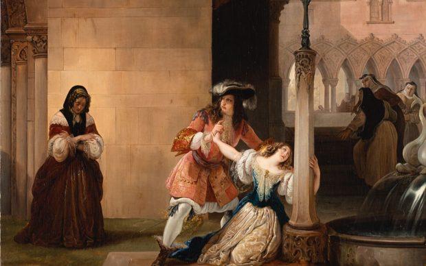 Francesco Hayez, Luigi XIV e Mademoiselle de La Vallère, 1838, olio su tela (70 x 95 cm). Valutazione € 38.000 - 40.000. Photo credit Il Ponte Casa d'Aste