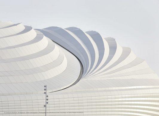 Al Janoub Stadium, Al-Wakrah, Qatar 2014-2019. Photograph by ©Hufton+Crow, Courtesy of Zaha Hadid Architects